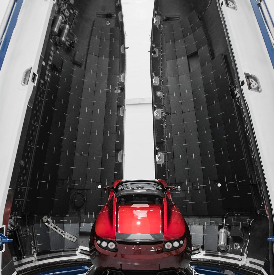 SpaceX Shows Off The Tesla Roadster Heading to Mars (Yes, For Real ...